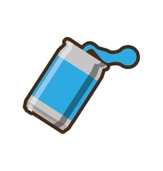 Blue can soda liquid drink design vector