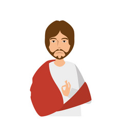 Jesuschrist avatar character icon vector