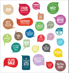 Modern sale stickers collection vector