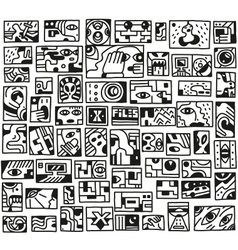 Paranormal things secret crime - doodles set vector