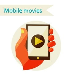 Mobile movies vector