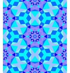 Multicolor geometric pattern in bright blue vector