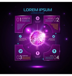 Web site template design disco background vector