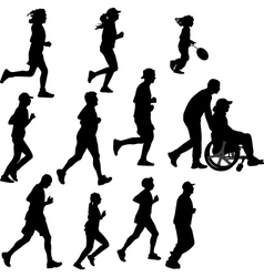 Paraplegic person as a runner vector