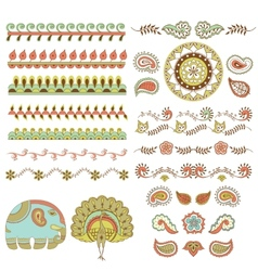 Hindu ornament vector