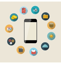 Flat design concept mobile phone apps vector