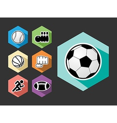 Sports elements flat icons set vector