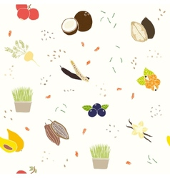 Superfoods pattern vector