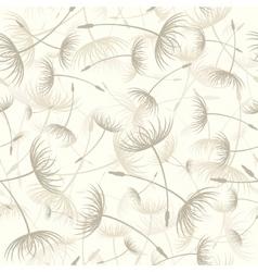 elegant seamless dandelion pattern vector image
