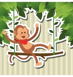 Monkey design animal and cartoon concept vector