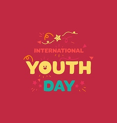International youth day banner vector
