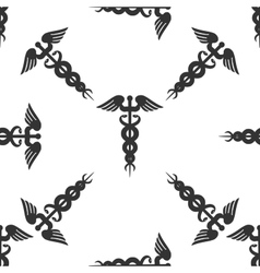 Caduceus medical symbol Icon pattern vector image