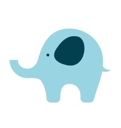 Baby toy elephant isolated icon design vector