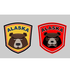 Alaska bear set logos for hunting or sports team vector