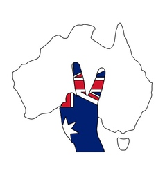 Australian finger signal vector image