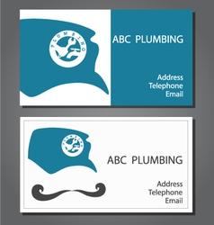 Business card for repair plumbing vector