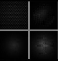 Carbon fiber background set vector