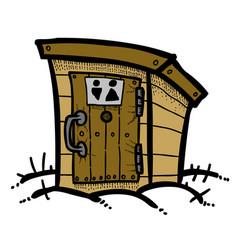 cartoon image of toilet icon toilet symbol vector image