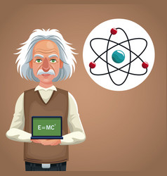 character scientist physical board with formula vector image