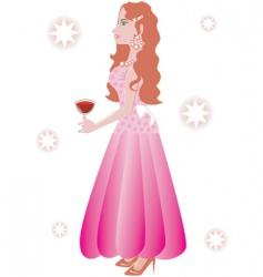 formal gown vector image