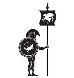 Greek warrior vector