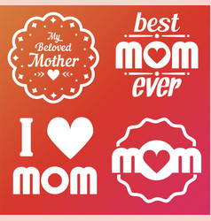 happy mothers day lettering calligraphic emblems vector image vector image