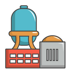 Industrial water tank icon cartoon style vector