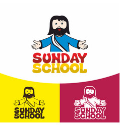 Logo sunday school vector