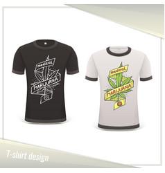 Medical marijuana tshirt eight vector