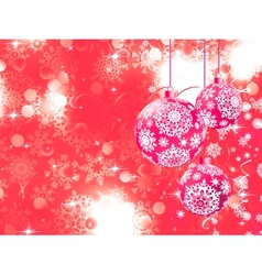 Merry Christmas with stars bokeh lights EPS 8 vector image vector image