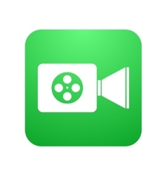 modern video camera icon on white vector image