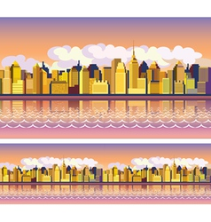 morning city vector image vector image