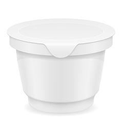 Plastic container of yogurt or ice cream 03 vector