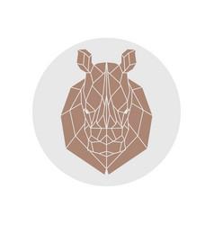 Rhino head polygonal silhouette vector