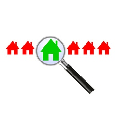 Searching for a house vector image