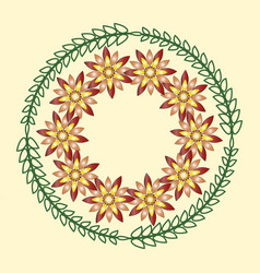 simple geometric floral ornaments round patterns vector image