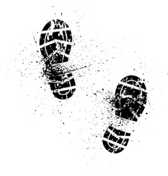 Splash shoe print vector image