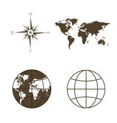 Symbols of global technology international vector