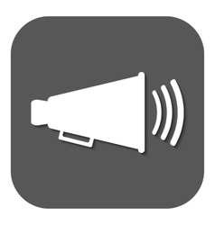 The megaphone icon Bullhorn symbol Flat vector image vector image