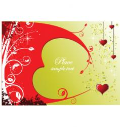 Valentine's card vector image