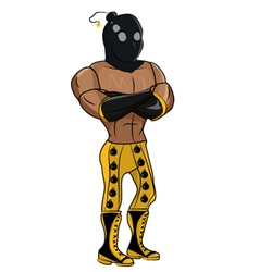 Wrestler bomber vector