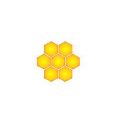 yellow bee logo vector image