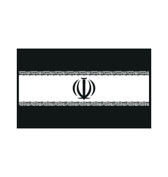 Flag of iran monochrome on white background vector