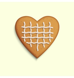 Gingerbread heart vector