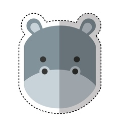 Cute hippo character icon vector
