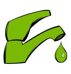 Save water icon cartoon vector
