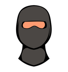Ninja mask icon icon cartoon vector