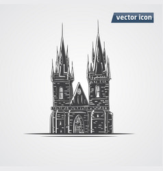 Tyn church vector