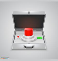 outdoor metal briefcase button vector image