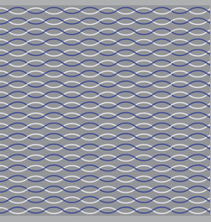 Blue white nautical rope stripe on gray vector